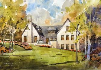 Watercolor by Iain Stewart