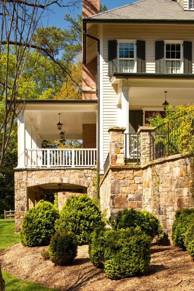 Brookhaven side porch