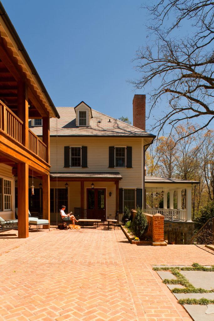 Brookhaven Back Patio Jones Pierce Architects Residential Architecture