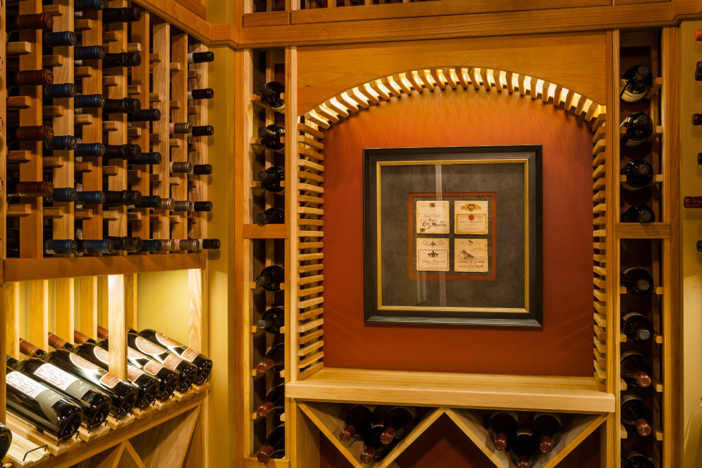 St marlow residence wine cellar
