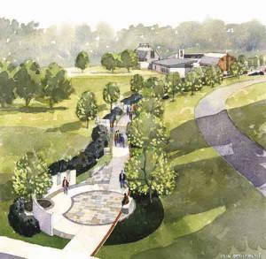 Watercolor Painting of Prayer Walk