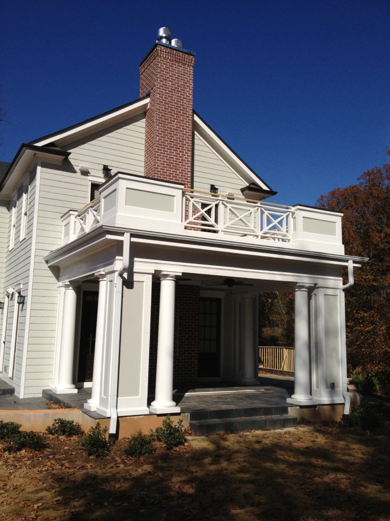 Double Porch with Chimney