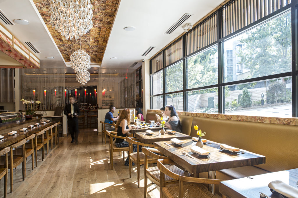 MF Sushi Dining Room designed by Jones Pierce Architects