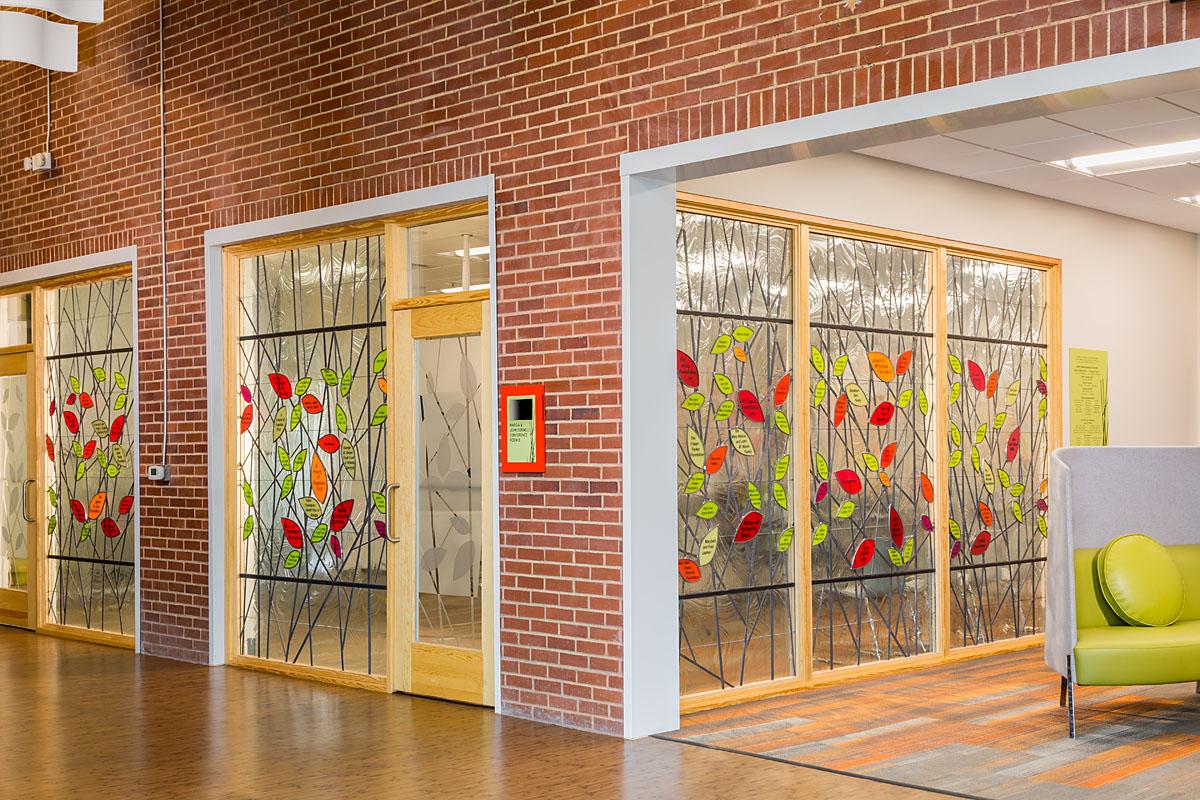 Donor wall at lobby