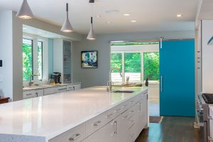 Jones Pierce Architects Modern Kitchen. Barn Door