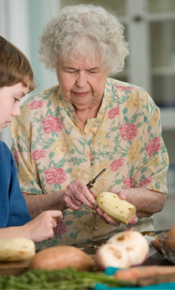 Senior adults sharing homes with their adult children