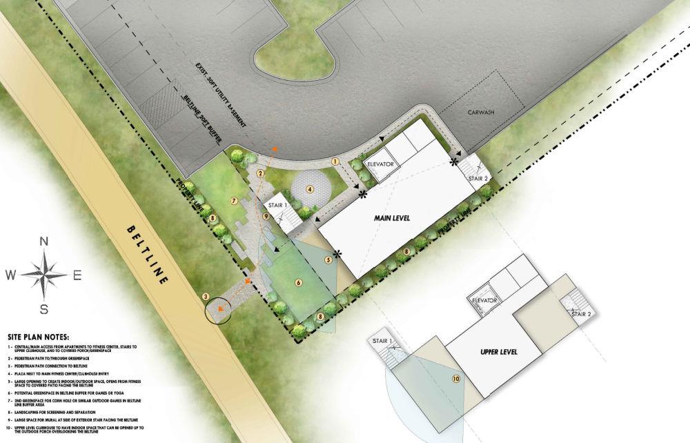 Jones Pierce's site plan for RangeWater Real Estate project