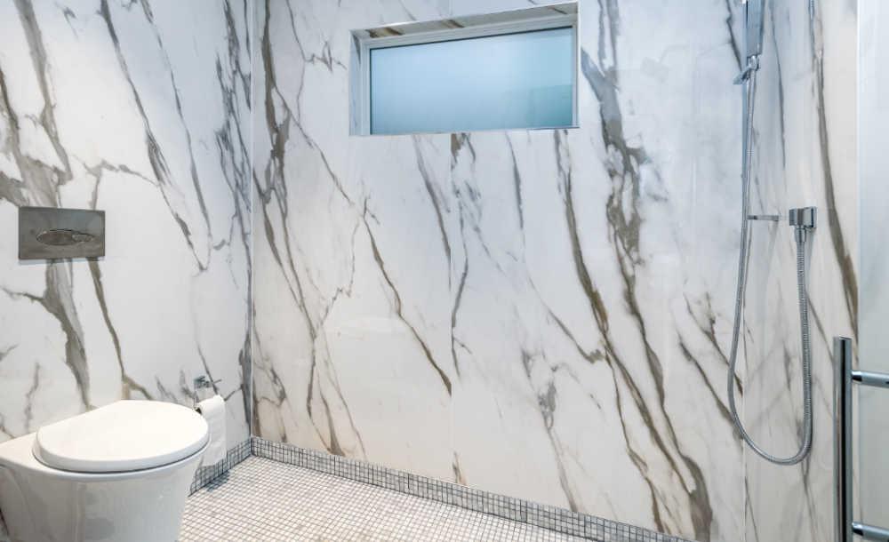 toilet in shower renovation