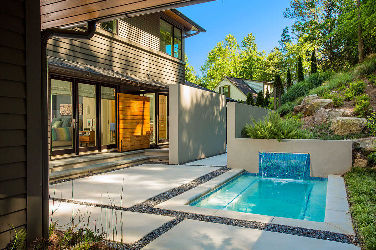 where to add an outdoor shower