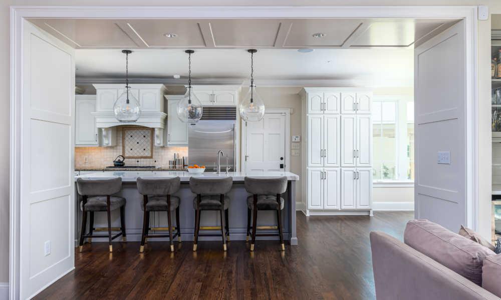 large dining room renovation