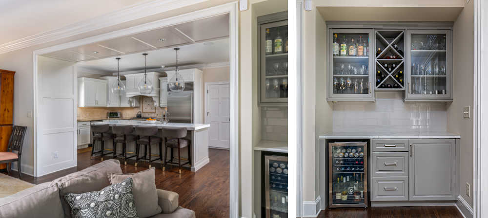cased opening in a kitchen renovation